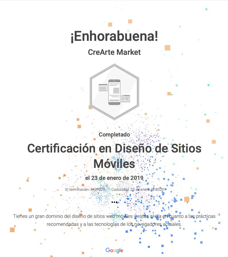 Google certificacion diseño sitios web para moviles
