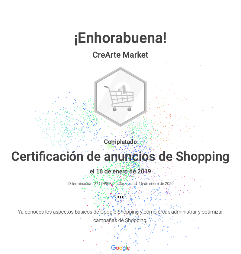 certificacion google shopping